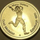 Large Gem Unc Mary Peters~Gold Medalist Medallion~Excellent~Free Shipping