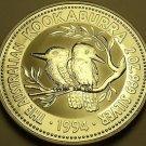 Gem Unc Silver Australia 1994 2 Dollars~Kookaburra~Free Shipping