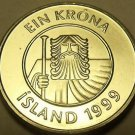 Gem Unc Iceland 1999 Krona~A Giant And a Cod Fish~Fantastic~Free Shipping