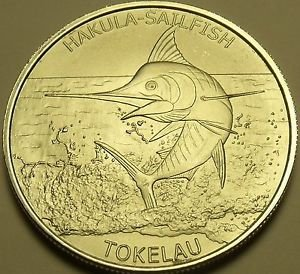 Gem Unc Silver Tokelau 2016 $5.00~Sailfish~Fantastic~Free Shpping