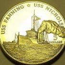 Gem Unc Marshall Islands 1998 $5.00~USS Fanning & USS Nicholson~Free Shipping