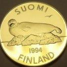 Rare Proof Finland 1994 5 Markka~Lake Saimaa Ringed Seal~5,000 Minted~Free Ship