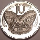 Rare Proof New Zealand 1981 10 Cents~Maori Mask~Only 18,000 Minted~Free Ship