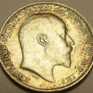 Super Au/Unc Silver Great Britain 1902 3-Pence~Excellent~Free Shipping