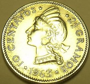 Silver Dominican Republic 1963 10 Centavos~100th Anniv Restoration Republic~F/S*