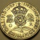 Silver Great Britain 1938 2 Shillings~Crowned Tudor Rose~Shamrock~Free Shipping