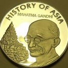 Gem Cameo Proof Cook Islands 2004 Dollar~Mohandas Ghandhi~Awesome~Free Shipping