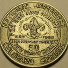 Gem Unc Boy Scouts National Jamboree 50 Year Medallion~Colorado Springs~Free Shi