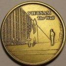 Huge 40mm Solid Brass Vietnam The Wall United States Veteran Medallion~Free Ship