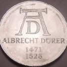 Large Unc Silver Germany 1971-D 5 Mark Coin~500th Anniversary Of Albrecht Durer~