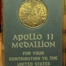 Apollo 11 Space Flown Medallion~Blue Case~Scarce~For Your Contribution~Free Ship