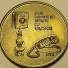Huge 40mm Solid Bronze 100 Years Of Service Southern Bell Telephone Medallion~FS