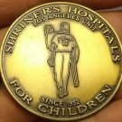 Huge 44.5mm Solid Bronze Shriners Hospital Los Angles Unit~Norbert Driggers~Fr/S