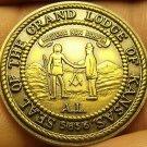 Large 32mm Solid Bronze Grand Lodge Of Kansas Bi-Centennial Medallion~Free Ship