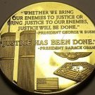 Large 24k Gold Plated Proof Medallion~Justice Has Been Done~Twin Towers 9-11~F/S