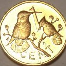 Cameo Proof British Virgin Islands 1975 Cent~32,000 Minted~Hummingbird~Free Ship