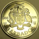 Rare Proof Barbados 1976 25 Cents~10th Anniv Of Independence~12,000 Minted~Fr/S