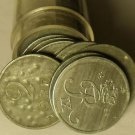 Circulated Roll (50 Coins) Denmark 2 Ore Coins~Zinc~1944-1964~Free Shipping