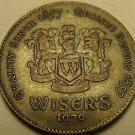 Rare Wiser's Distillary Token 1979~Canadian Whisky Medallion~Since 1857~Free Shi