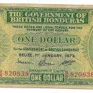 Scarce British Honduras Belize 1973 Dollar~Pick 28C~Free Shipping