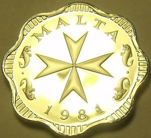 Rare Proof Malta 1981 2 Mils~Maltese Cross~1,453 Minted~Incredible~Free Shipping