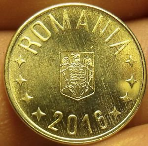 Gem Unc Romania 2016 Bani~Coat Of Arms~Free Shipping