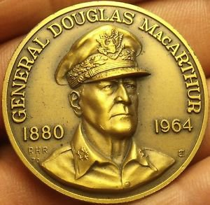 Large 39.5mm Solid Bronze Douglass MaCarthur Gem Unc Medallion~Awesome~Free Ship
