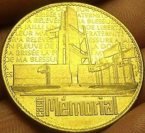Caen World WarII Memorial Medallion~Tresors De France~Awesome~Free Shipping