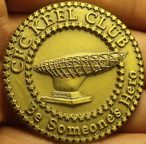 Massive 45mm C.F.C Keel Club South Hampton Roads Medallion~Free Shipping