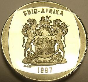 Rare Proof South Africa 1997 Rand~Only 3,596 Minted~Springbok~Free Shipping