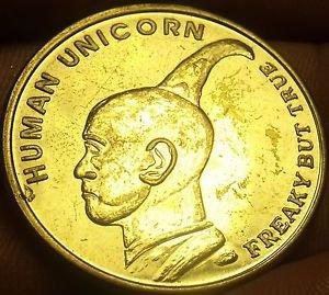 St. Augustine Florida~Ripleys Beleive It Or Not~Human Unicorn Medallion~Free Shi