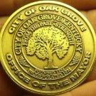 Gem Unc Oak Grove Kentucky War Memorial Walking Trail Medallion~38.5mm~Free Ship