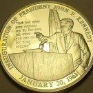 Silver Plated Proof John F Kennedy Inauguration Speech 40mm Medallion~Free Ship