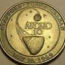 Apollo 10~38.8mm Medallion~May 18th, 1969~Stafford~Young~Cernan~Free Shipping