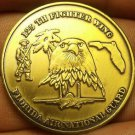 125th Fighter Wing Florida Air National Guard Brass Medallion~Super~Free Ship