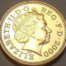 Gem Unc Great Britain 2000 Penny~U.K. Milleniium Coin~Crowned Portcullis~Free Sh