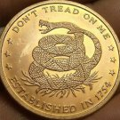 Gem Unc~Dont Tread On Me~One Ounce .999 Solid Copper Medallion~Free Shipping