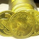 Gem Unc Roll (25 Coins) Large 28.3mm~25 Cents In Drinks Brass Bar Token~Fr/Ship