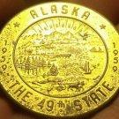 Alaska 1959 38.5mm~Becoming The 49th State~Souvenir Dollar~Free Shipping