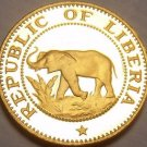 Rare Cameo Proof Liberia 1973 Cent~Elephant Coin~11,000 Minted