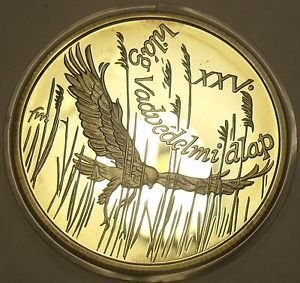 Silver Proof Hungary 1988 500 Forint~Montagu's Harrier~25,000 Minted~Free Ship