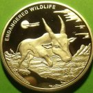 Congo 2007 Silver Plated 10 Francs~Endangered Wildlife Series~Antelope~Rare