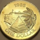 Bermuda 1985 Dollar Unc~Only 11,000 Minted~Cruise Ship~The Bermuda Buttery~Fr/Sh