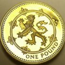 Gem Cameo Proof Great Britain 1994 Pound~Rampant Lion~Edge Inscription~Free Ship