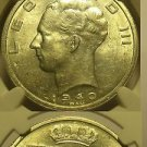 Belgium 1940 50 Francs Position A~NGC Certified UNC~Free Shipping