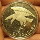Singapore 1974 10 Dollars Rare Silver Proof~Eagle Landing~6,000 Minted~Free Ship