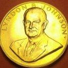 Gem Unc Lyndon B. Johnson Presidential Bronze Inauguration Medallion~Free Ship