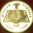 South Africa William Tyndale Silver Proof Bible Study Medallion~SAM~Free Ship