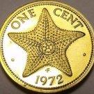 Proof Bahamas 1972 Cent~Starfish~35,000 Minted~Free Shipping