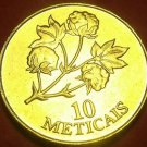 Mozambique 1994 10 Meticais Gem Unc~Cotton Plant~Only Year Minted~Free Shipping